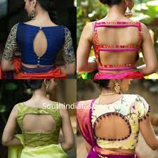 how to cut out the back of a cabinet cut out back neck saree blouse designs south india