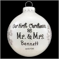 personalized our as mr and mrs white sparkle glass