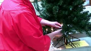 how to wrap lights on a christmas tree close up view youtube