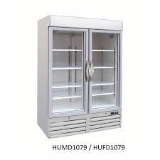 two door colourbond glass fridge upright 1079 litre glass door