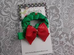 ribbon hair clip christmas tree hair bow clip ribbon hair christmas