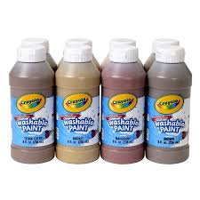 crayola 8oz washable paint bottles 8 count in multicultural