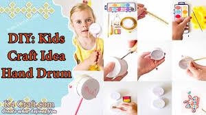 kids craft idea hand drum k4 craft