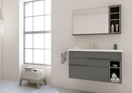 nook bathroom vanity ensemble dark grey light grey