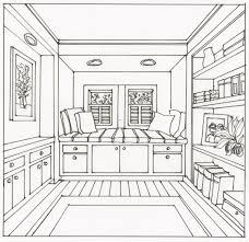 house with floor plan simple bedroom sketch interior design
