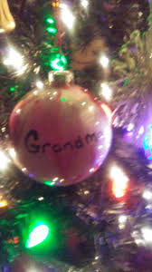 acrylic paint inside clear glass ornaments being a grandma