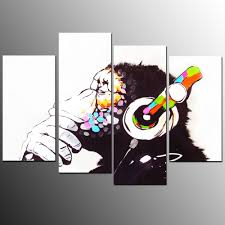 online buy wholesale thinking monkey painting from china thinking