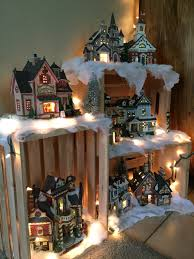 Frozen Christmas Light Show by My 2015 Village Display Made Using Crates Christmas Lights And