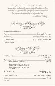 catholic mass wedding program template calla wedding program exles catholic mass wedding program