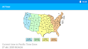 Us Map Of Time Zones by Map Of Usa Showing Time Zones My Blog