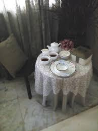 Lit Coffee Table Crystal Grandeur Summer Rainy Coffee Table