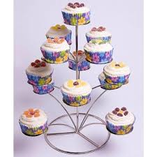 cup cake stands pme promo 4 tier silver chrome metal cupcake stand holds
