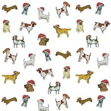 christmas wrapping paper dog christmas wrapping paper gift set by