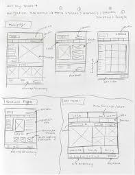 amanda winkler wireframe sketches for ecommerce