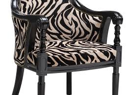 Zebra Print Accent Chair Furniture 54 Poundex F1528 Fabric Print Chenille Accent Chair