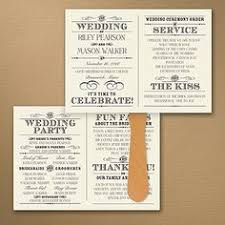 vintage wedding programs foil wedding invitations on a budget