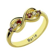 family birthstone rings infinity birthstone rings personalized gold color s ring