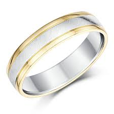silver diamond rings his hers 9ct yellow gold silver wedding rings 5 6mm silver
