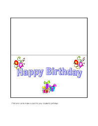 birthday card to print word template for cards 28 images free birthday card templates