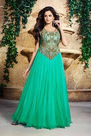 buy evening designer gowns online usa from india green long
