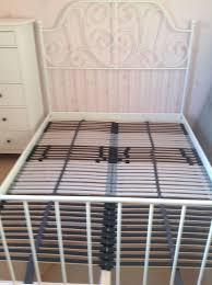 ikea leirvik double bed frame and lonset slatted bed base in