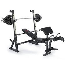 marcy unisex diamond elite olympic weight bench with squat rack