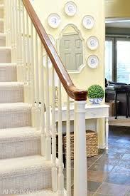 Staircase Makeover Ideas Staircase And Entry Makeover Reveal At The Picket Fence