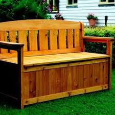 Plans For A Wooden Bench With Storage by Plans For Deck Bench Which Allows Storage Space For Seat Cushions