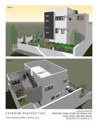 Three Story House Plans Architecture And Interior Design By Michelle Anne Santos At Three