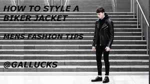 leather motorcycle jackets for sale how to style a biker jacket mens fashion tips gallucks youtube