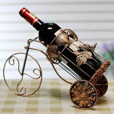 fashion wine rack wrought iron wine bottle holder stand bronze