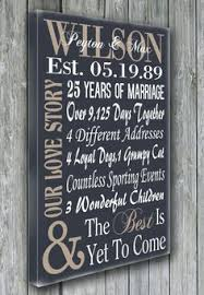 customized anniversary gifts wedding anniversary gifts for him paper canvas 10 year