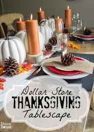 dollar store thanksgiving tablescape bless u0027er house