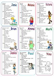 Daily Life Skills Worksheets Daily Routines Speaking Cards Worksheet Free Esl Printable