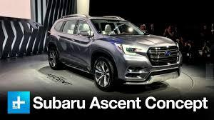subaru concept truck subaru ascent concept suv new york international auto show youtube