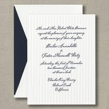 Embossed Invitation Cards Letterpress Pinstripe Wedding Invitations