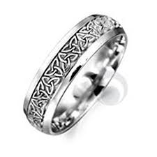 Platinum Wedding Rings by Celtic Patterned Platinum Wedding Ring Wedding Dress From The