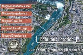 Niagra Falls Map Eastwood Lodge With Complimentary Breakfast For 8 Vacation Homes