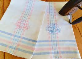 machine embroidery designs for kitchen towels nos kitchen towels pink dish towels never used dish towels