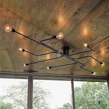 industrial style ceiling lights awesome industrial ceiling lights edison bulb wrought popular light