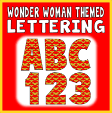 themed letters woman themed letters numbers teaching resources display