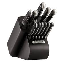 self sharpening kitchen knives edgekeeper 12 pc self sharpening knife block set