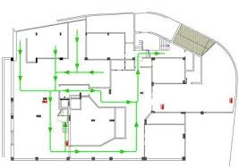 fire exit floor plan template emergency escape and fire fighting health and safety authority