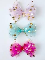 tulle hair bows diy polka dot tulle hair bow satsuma designs