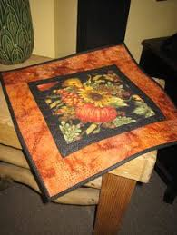 quilted sunflower table topper yellow black table topper table
