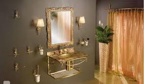 gold bathroom ideas gold bathroom mirror home design ideas and pictures