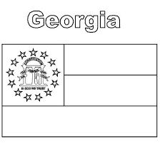 Georgia State Flag Coloring Page Color Luna Flag Color Page