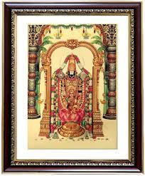 lord venkateswara photo frames with lights and music goldart goldfoil photo frame size 4 god balaji lakshmi wooden