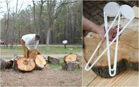 how to make a tree stump table diy rustic end table from tree stump slice shelterness