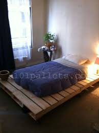 Pallet Bedroom Furniture Diy Unique Style Pallets Bed 101 Pallets